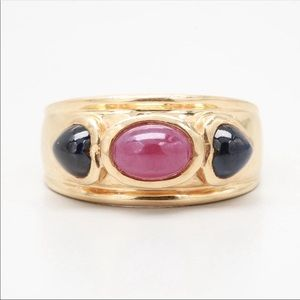 Jewelry - 14k Yellow Gold Genuine Ruby and Sapphire Ring